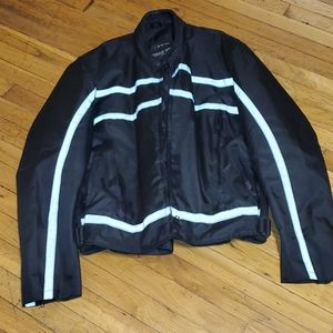 NWOT Men's road wear black biker coat 3xl